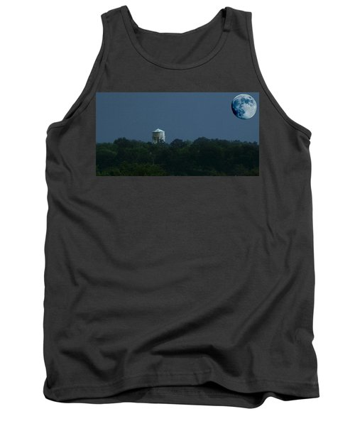 Blue Moon Over Zanesville Water Tower Tank Top