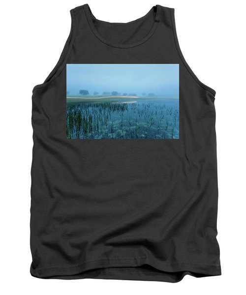 Tank Top featuring the photograph Blue Morning Flash by Jorge Maia