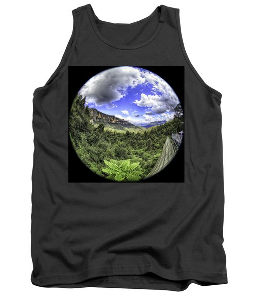 Blue Mountains Fisheye Tank Top