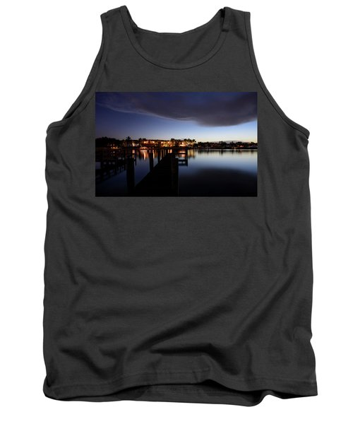 Tank Top featuring the photograph Blue Night by Laura Fasulo