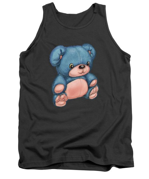 Blue Pink Bear Tank Top by Andy Catling