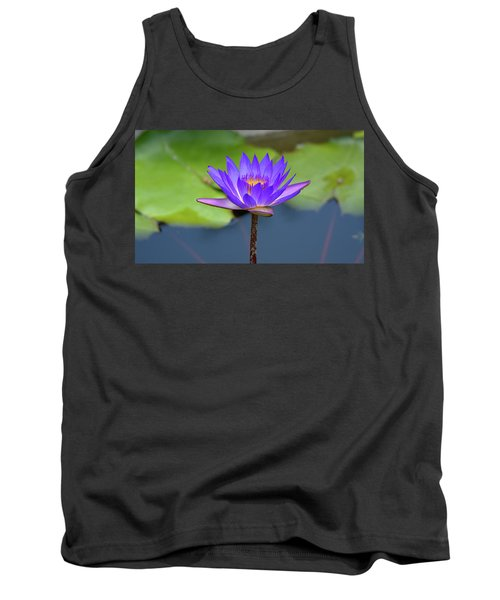 Blue Purple And Orange Water Lily Tank Top