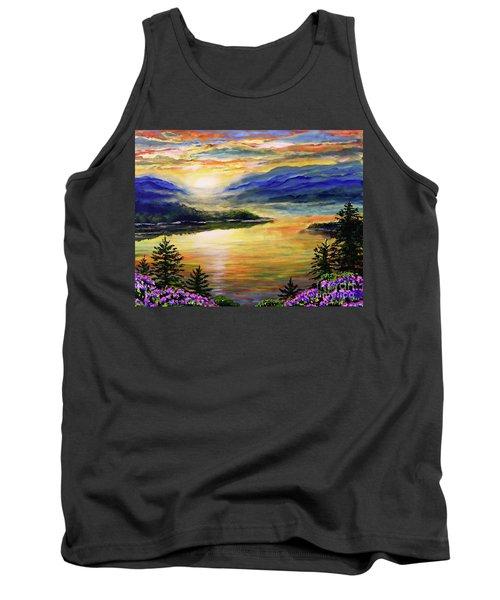 Blue Ridge Lake View Sunset Tank Top