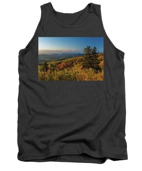Blue Ridge Mountain Autumn Vista Tank Top