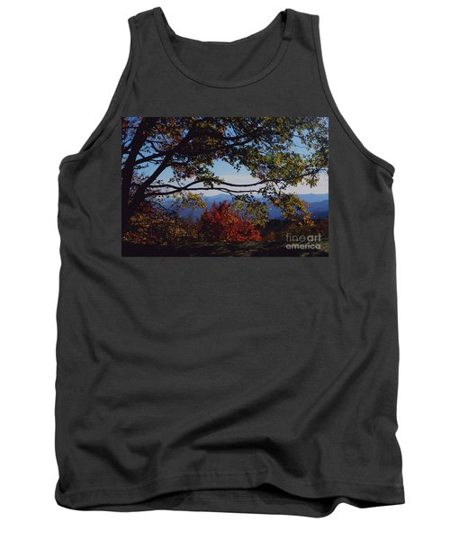 Tank Top featuring the photograph Blue Ridge Mountain View by Debra Crank