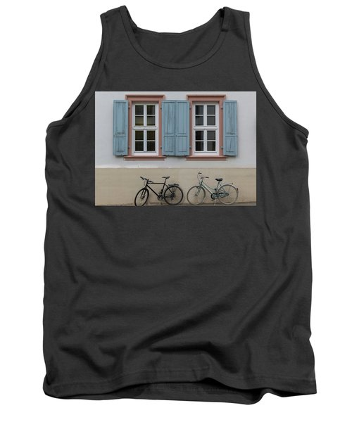 Blue Shutters And Bicycles Tank Top