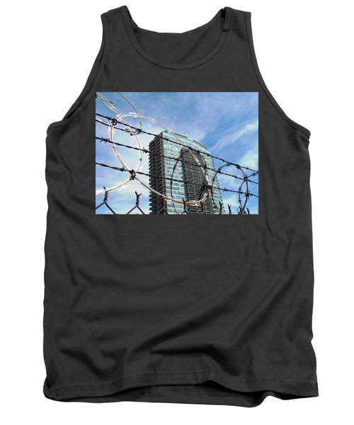 Blue Sky And Barbed Wire Tank Top