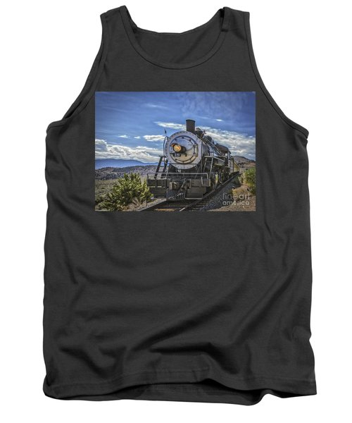 Tank Top featuring the photograph Blue Sky Nevada. by Mitch Shindelbower