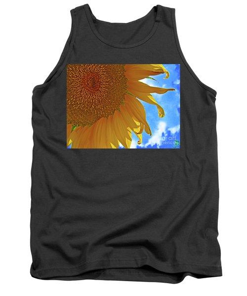 Blue Sky Sunflower Tank Top