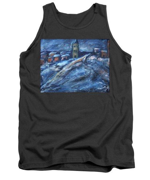 Blue Snow City Tank Top