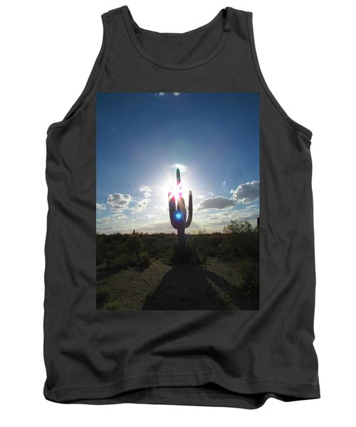 Blue Star Saguaro Tank Top