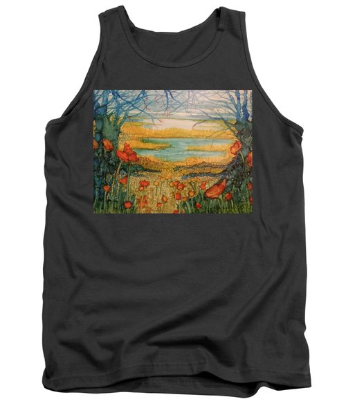 Blue Trees Tank Top