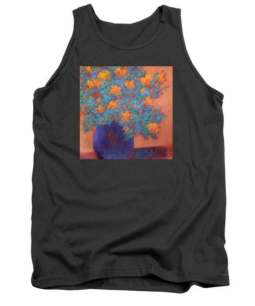 Blue Vase Tank Top by Nancy Jolley