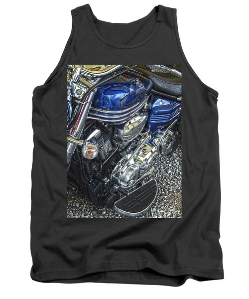 Blue Warrior Hdr Tank Top by Diane E Berry
