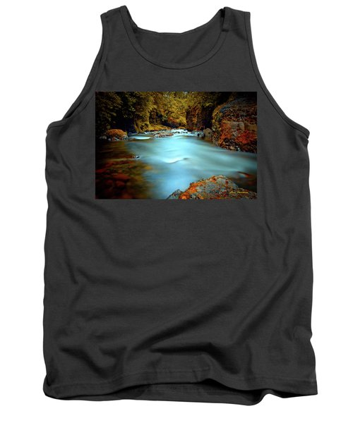 Blue Water And Rusty Rocks Signed Tank Top
