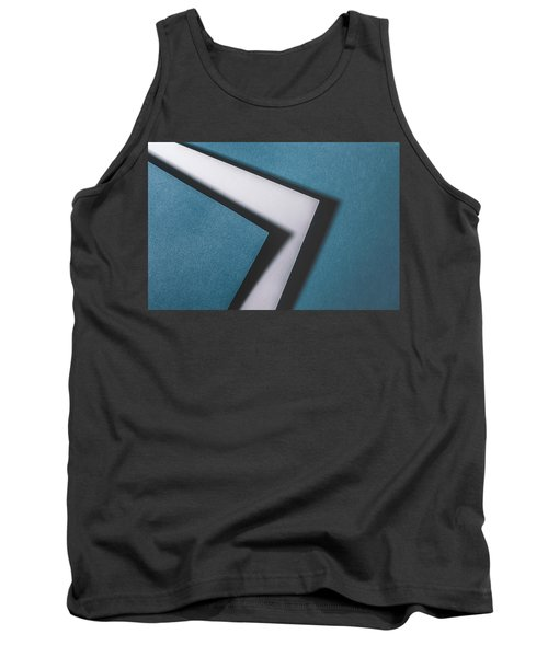 Blue White Blue Tank Top
