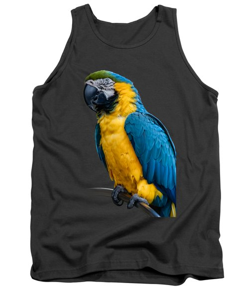 Blue Yellow Macaw No.1 Tank Top