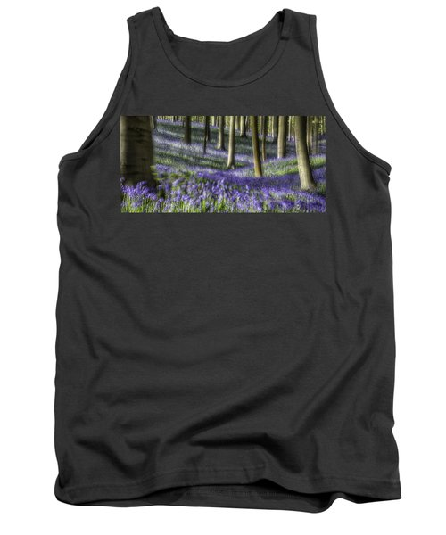 Bluebell Forest Color Explosion Tank Top by Dirk Ercken