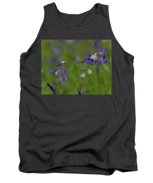 Bluebells And Stitchwort  Tank Top