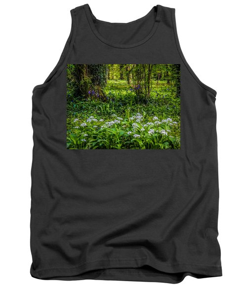 Bluebells And Wild Garlic At Coole Park Tank Top