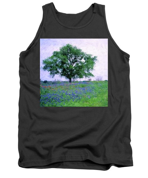 Bluebonnet Tree Tank Top