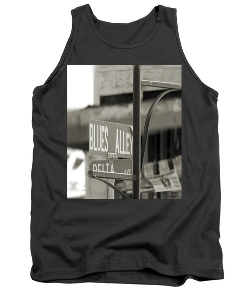 Blues Alley Street Sign Tank Top