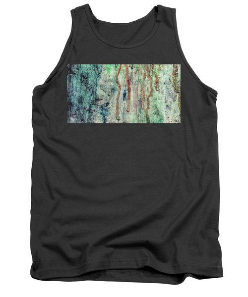 Standing In The Rain - Large Abstract Urban Style Painting Tank Top