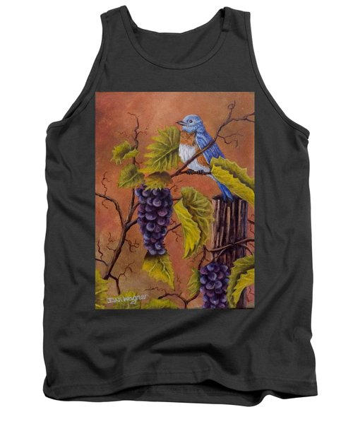 Bluey And The Grape Vine Tank Top by Dan Wagner