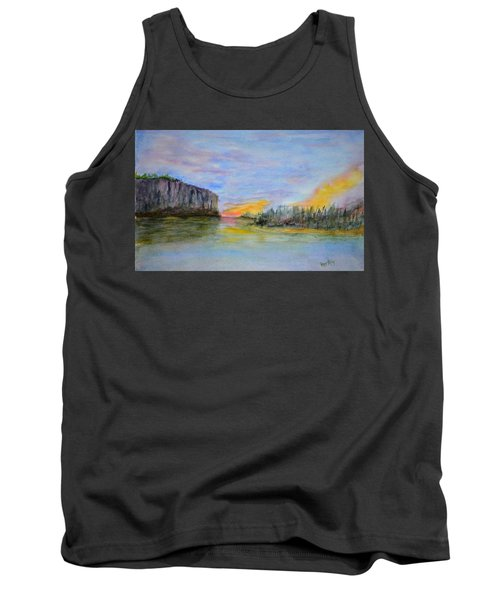 Bluffs At Sunset Tank Top