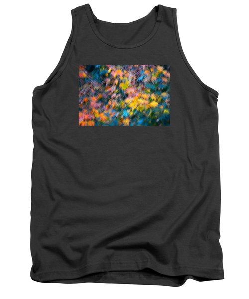 Blurred Leaf Abstract 3 Tank Top