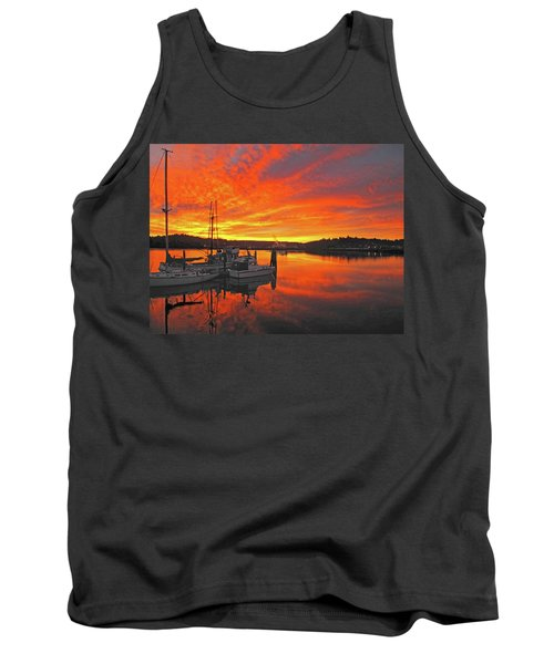 Tank Top featuring the photograph Boardwalk Brilliance With Fish Ring by Suzy Piatt