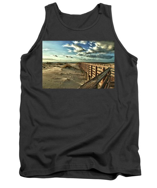 Boardwalk On The Beach Tank Top