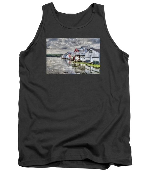 Boat Houses In The Finger Lakes Tank Top