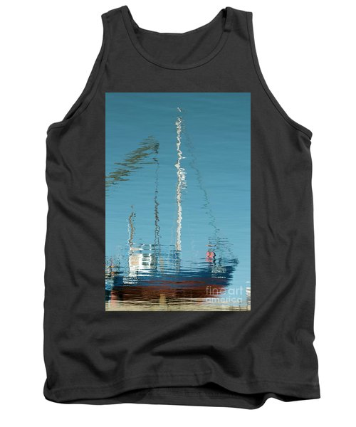 Tank Top featuring the photograph Boat Of Ripples by Wendy Wilton