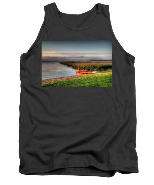 Boat On A Minnesota Lake Tank Top