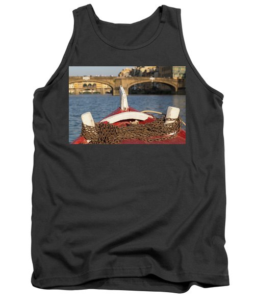 Boat On The Arno River,  Tank Top