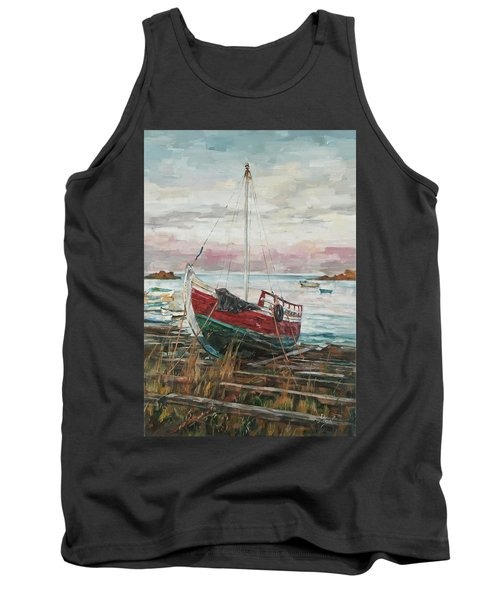 Boat On The Shore Tank Top