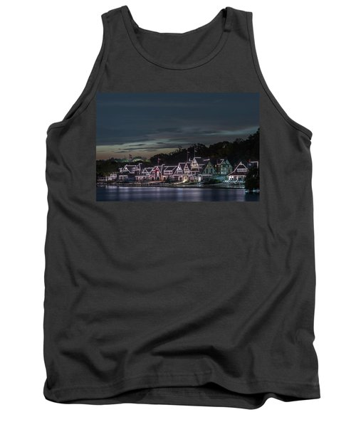 Boathouse Row Philly Pa Night Tank Top