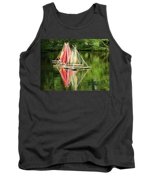 Tank Top featuring the photograph Boats Landscape by Manuela Constantin