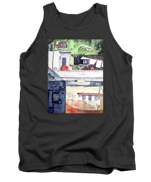 Boats On The Quay Tank Top