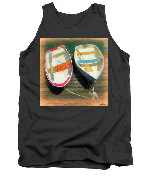 Boats Tied On The Landing Tank Top