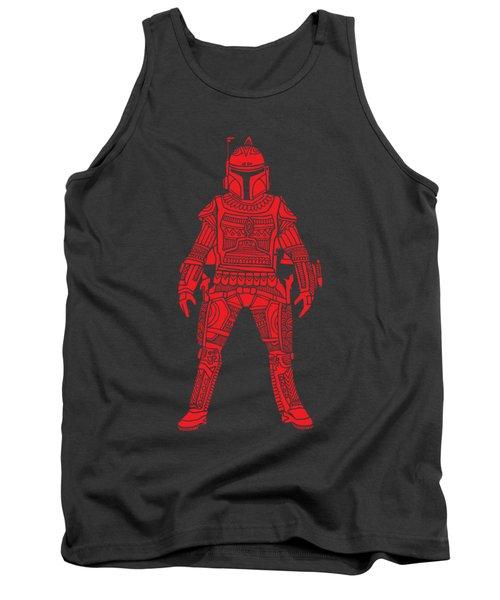 Boba Fett - Star Wars Art, Red Tank Top