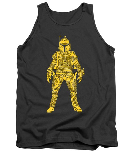 Boba Fett - Star Wars Art, Yellow Tank Top