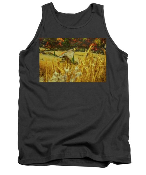 Tank Top featuring the digital art Bobwhite In Flight by Chris Flees