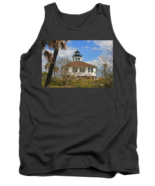 Tank Top featuring the photograph Boca Grande Lighthouse View Two by Rosalie Scanlon