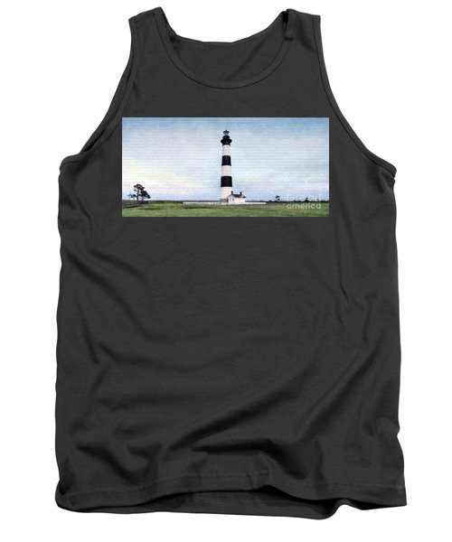 Bodie Island Lighthouse Mural Art Tank Top by Marion Johnson