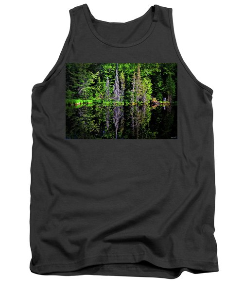 Tank Top featuring the photograph Bond Falls - Michigan 001 - Reflection by George Bostian