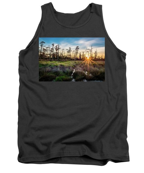 Bonnet Carre Sunset Tank Top by Andy Crawford