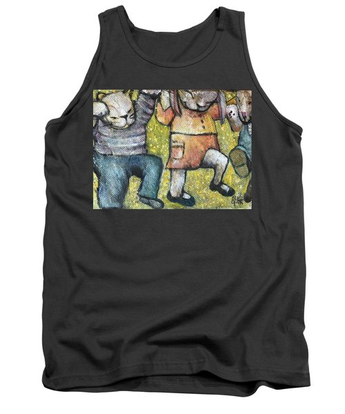 Tank Top featuring the painting Boogy Woogy by Eleatta Diver