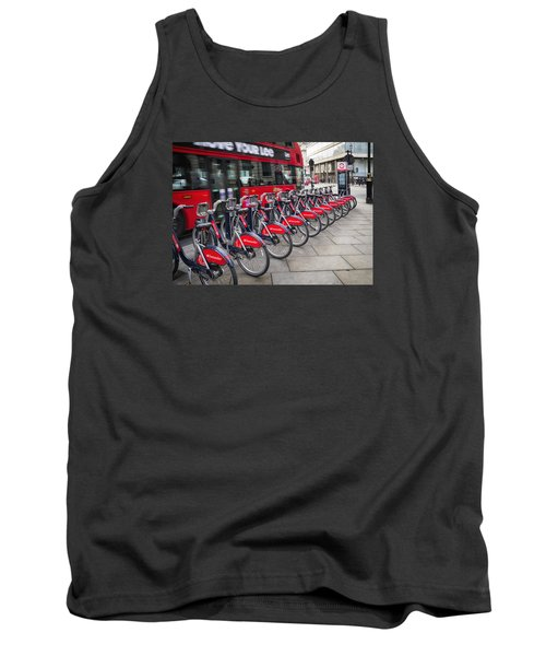Boris Bikes And Buses Tank Top by Shirley Mitchell